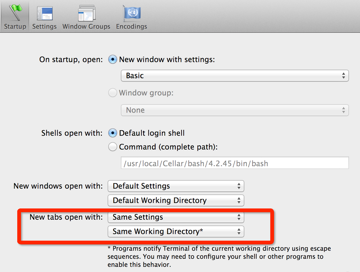 Mac Set Terminal Working Directory